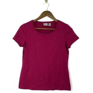 Chico's Top Size 0 Small Fuchsia Travel Stretch